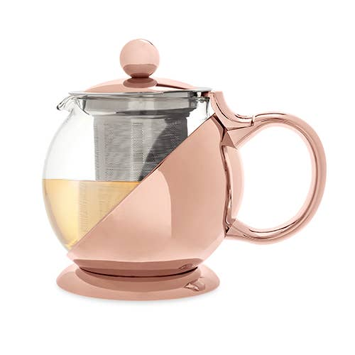 Shelby Rose Gold Wrapped Teapot With Infuser