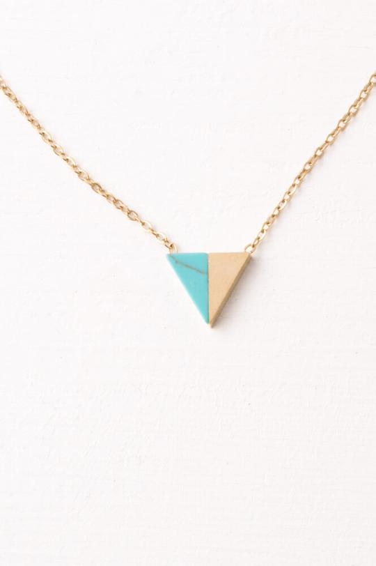 Marguerite Gold and Turquoise Necklace