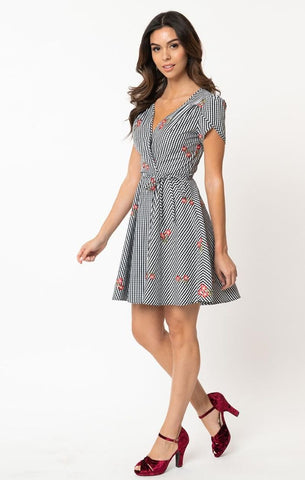 Tabby Rust Polka Dot Tea Dress