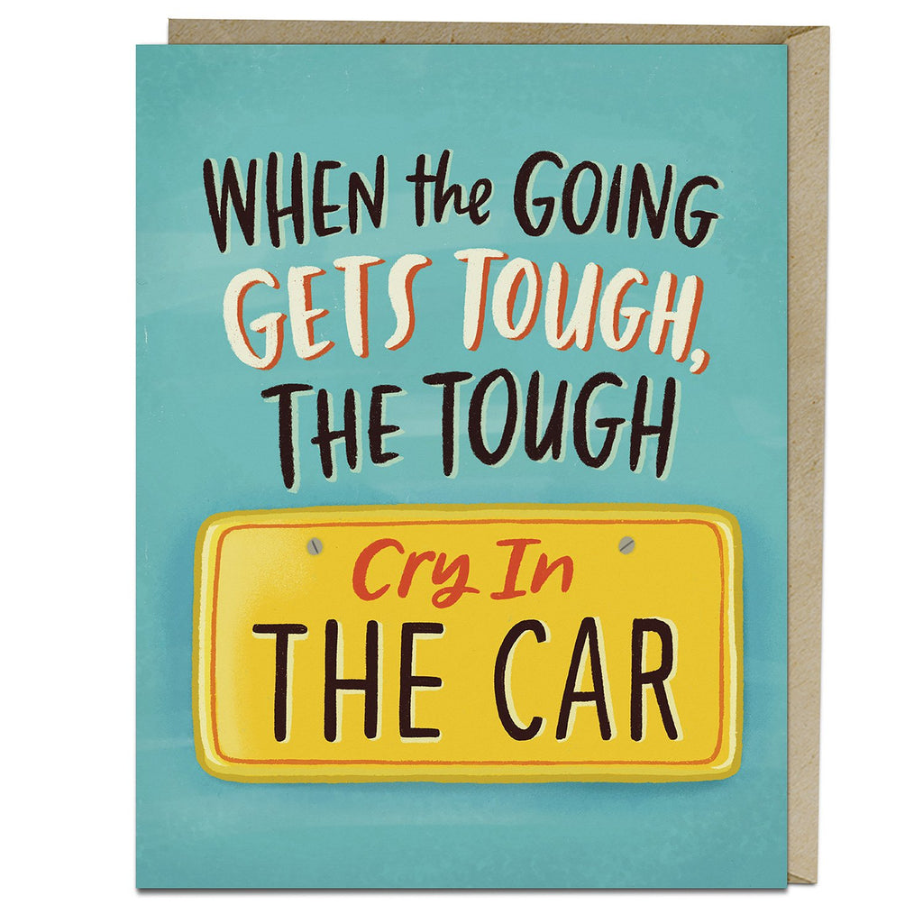 Cry In The Car Greeting Card