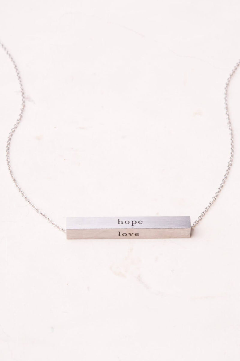 Faith Silver Bar Necklace by Starfish Project