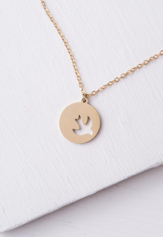 Serenity Dove Gold Necklace