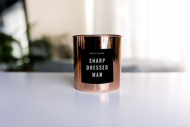 Sharp Dressed Man Candle in Classic or Rose Luxe