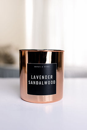 Lavender Sandlewood Candle in Classic or Rose Luxe