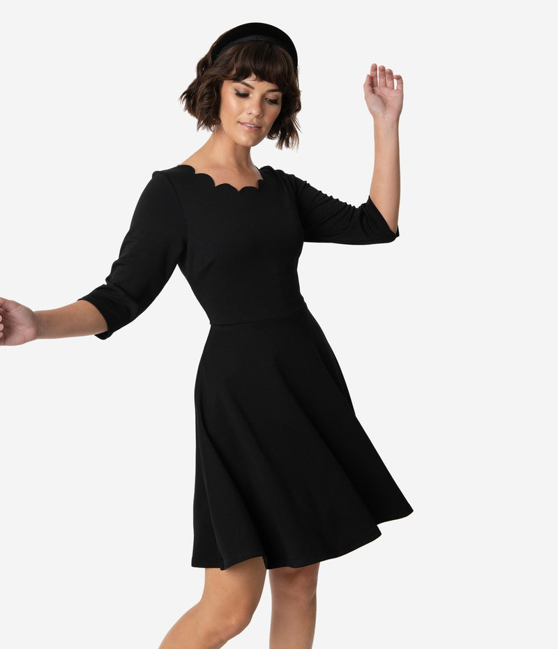 Charmed Fit & Flare Little Black Dress