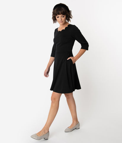 Stripe Surplice Dress With Lining