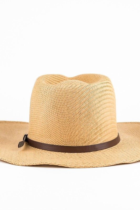 Cowgirl Natural Straw Hat In Ivory or Brown