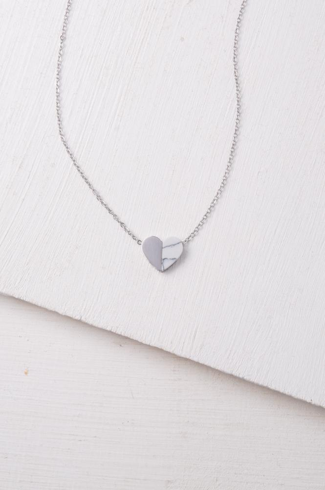 Alexis Silver Heart Necklace