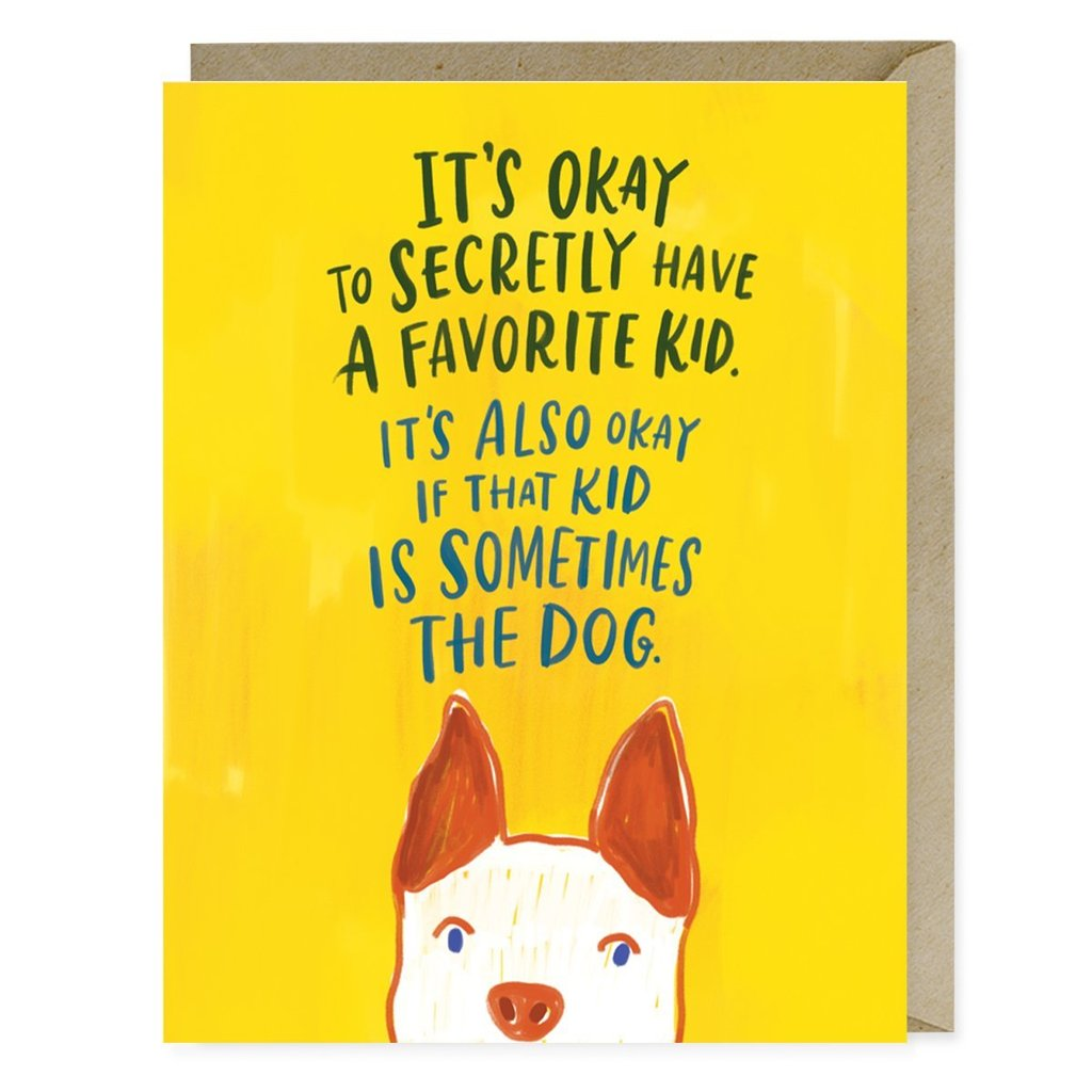 Favorite Kid Is A Dog Greeting Card