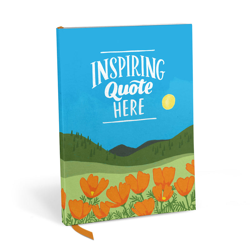Inspiring Quote Here Journal