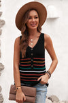 Kourtney V Neck Sleeveless Sweater in Black