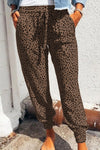 Lisa Leopard Print Loungers in Brown