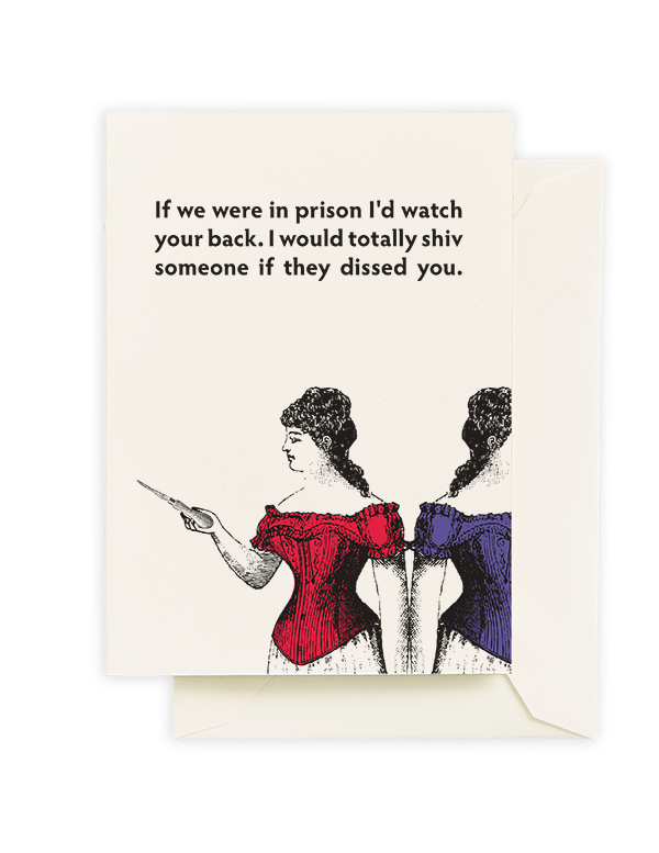 Prison Shiv Greeting Card