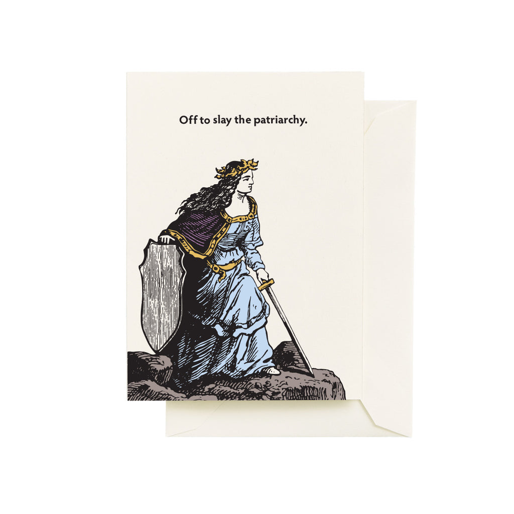 Slay Patriarchy Greeting Card