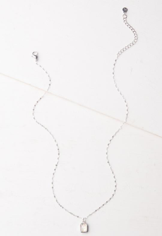 Lila White and Silver Necklace by Starfish Project