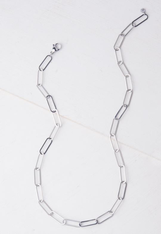Georgie Silver Chain Necklace by Starfish Project