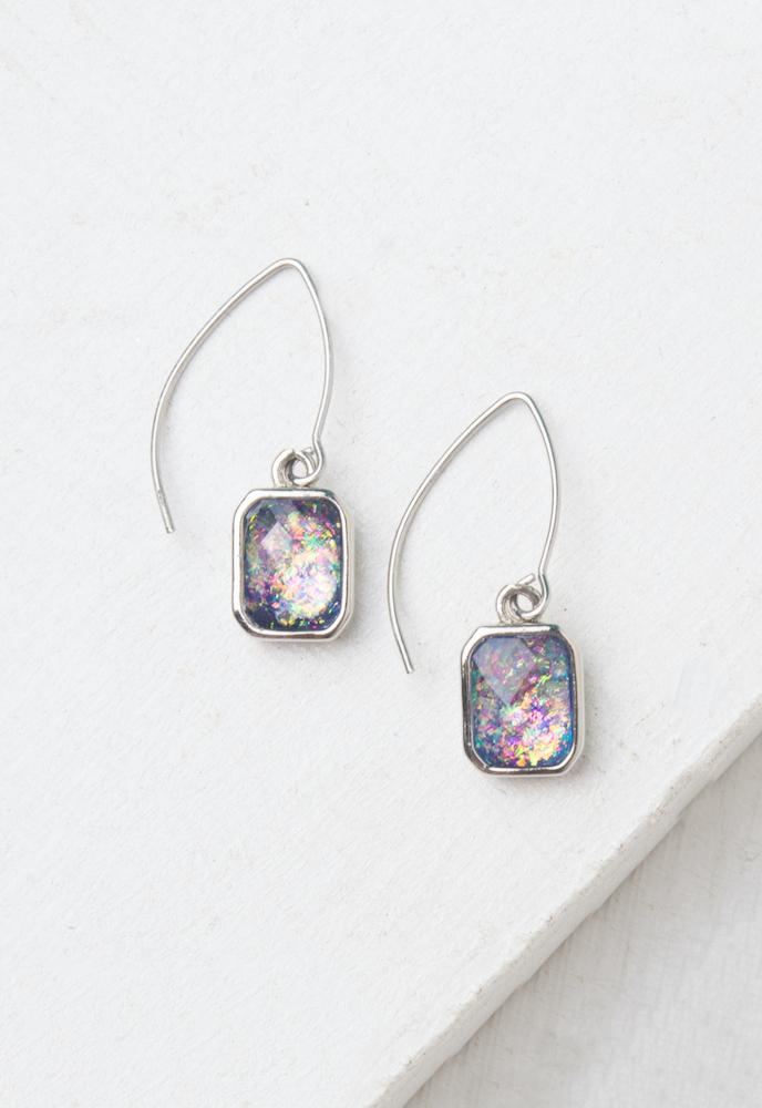 Alexa Lavender & Silver Earrings