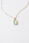 Lila Sky Blue and Gold Necklace