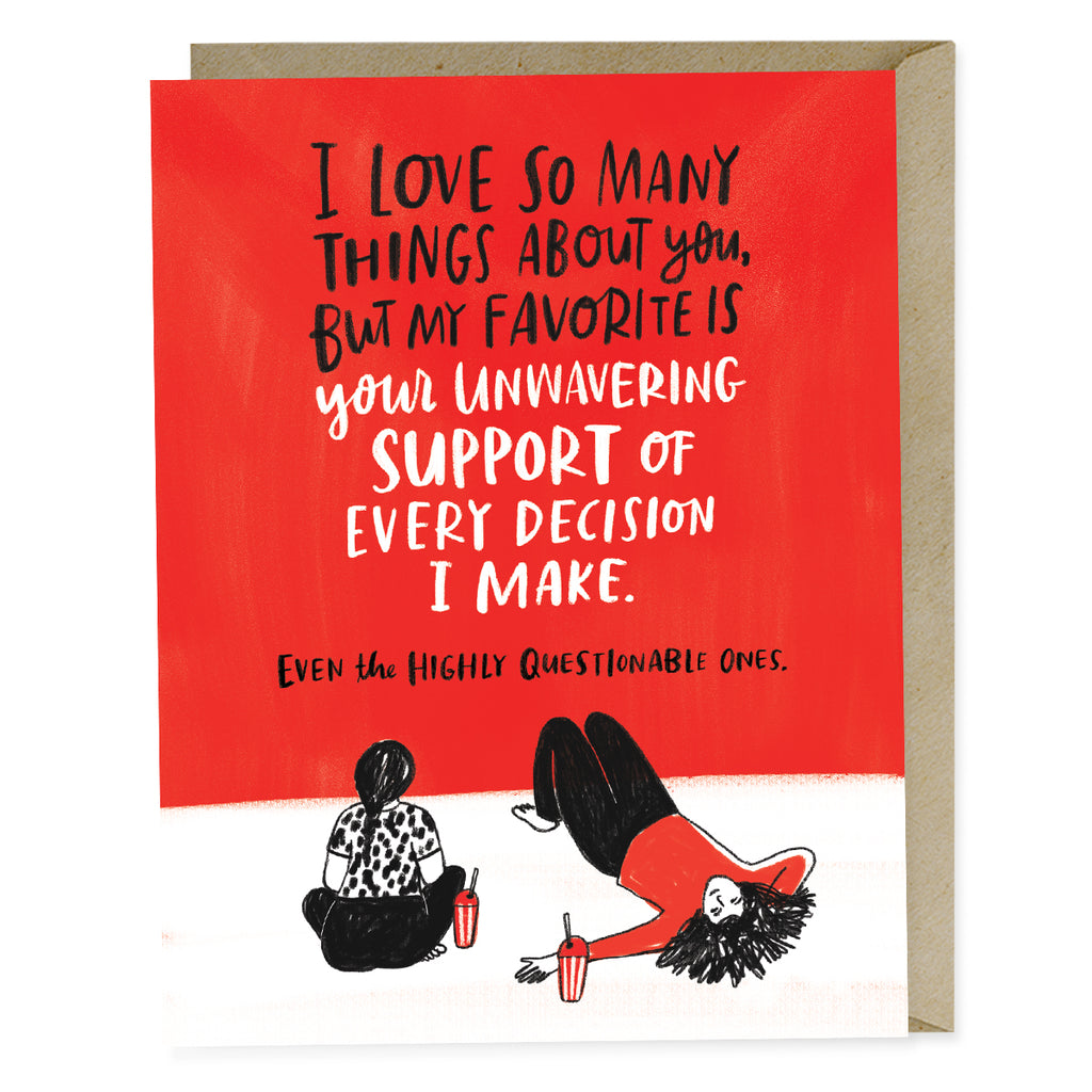Unwavering Support Greeting Card