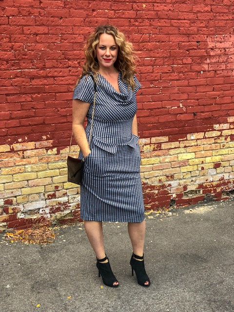 Gingham VooDoo Vixen Dress With Pockets