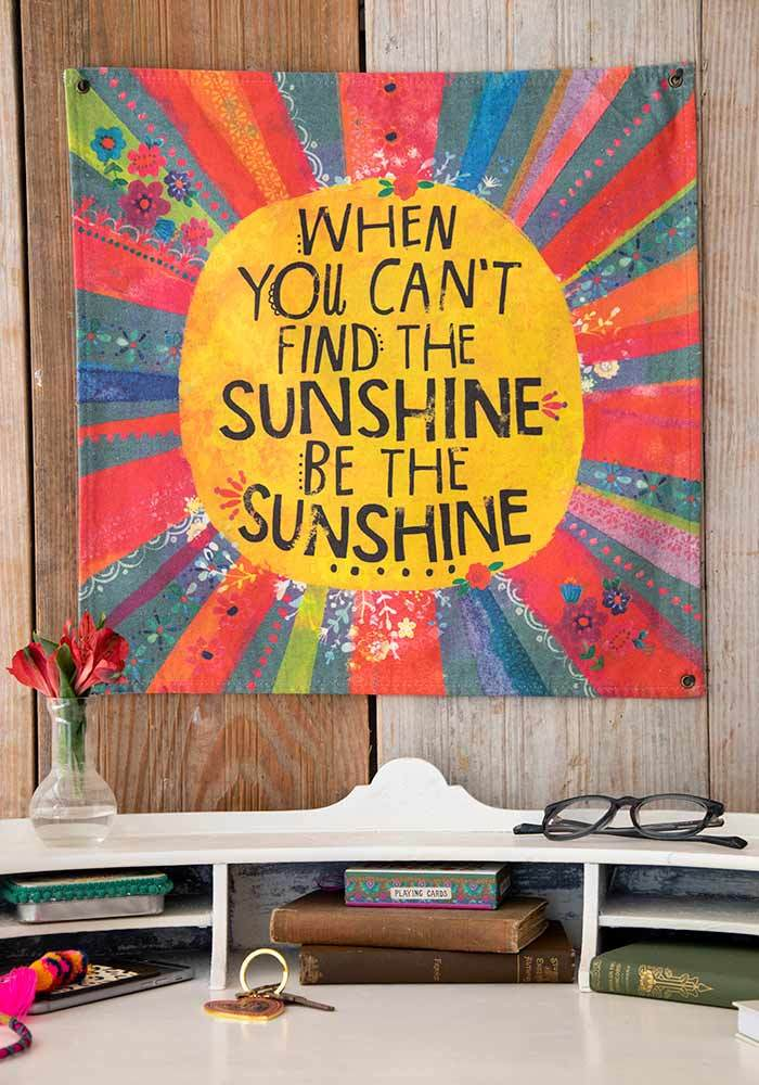 Be The Sunshine Mini Canvas Tapestry