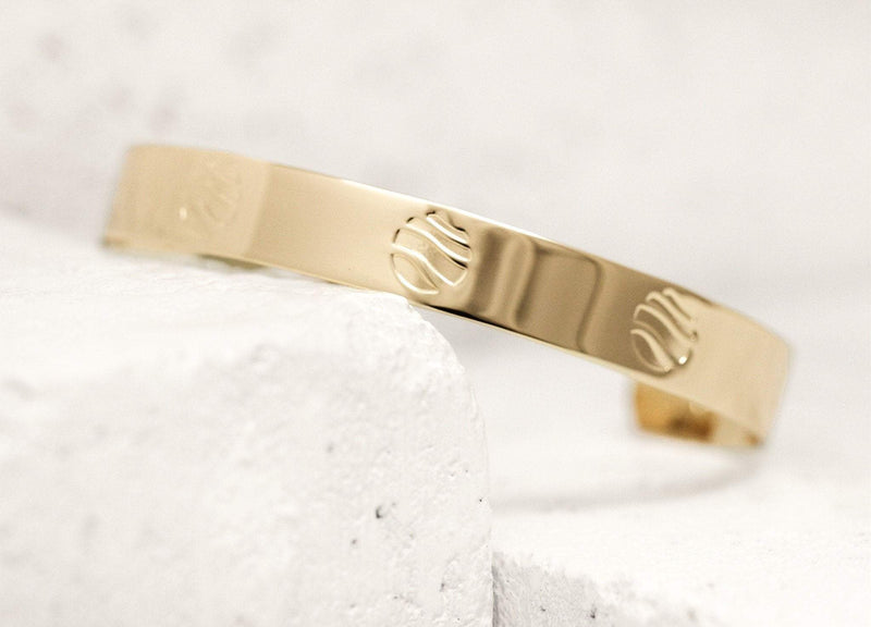 Easy Going Pieces Of Me Cuff in Gold or Silver