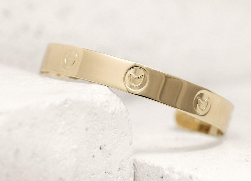 Funny Pieces Of Me Cuff in Gold or Silver