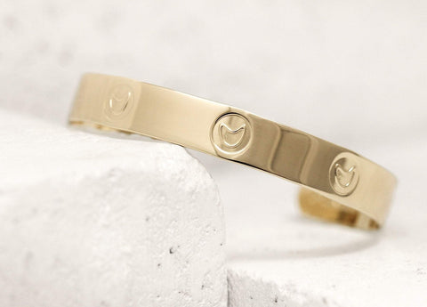 Hard Working Pieces Of Me Cuff in Gold or Silver