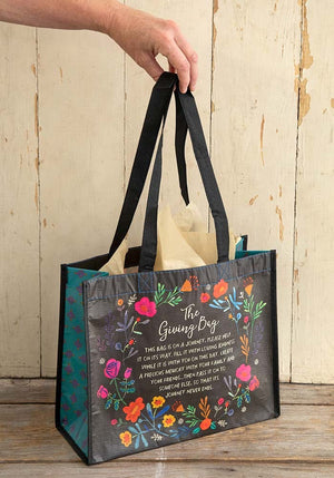 Giving Bag in Large Black Floral