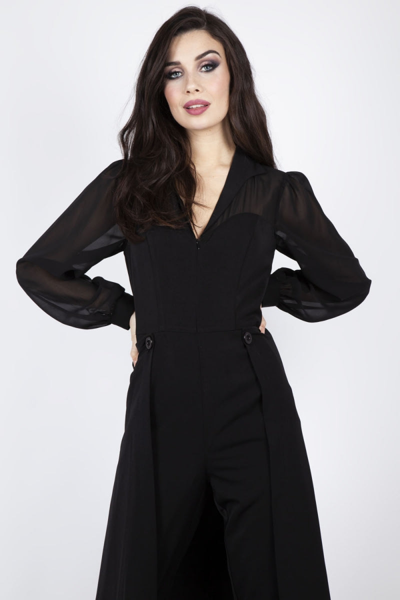 Gia Cape Straight Leg Jumpsuit