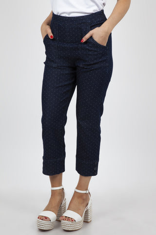 Cropped Wide Leg Chambray Culottes