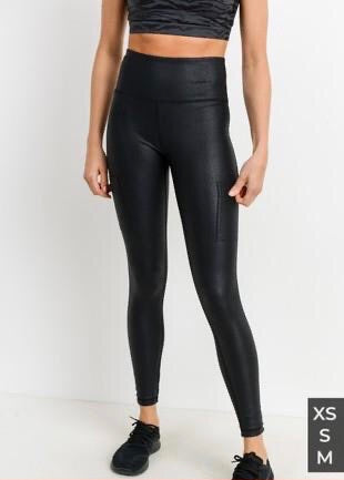 Patent Leather Athletic Legging