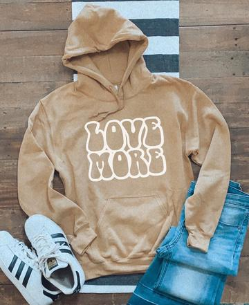 Love More Sweatshirt in Gold