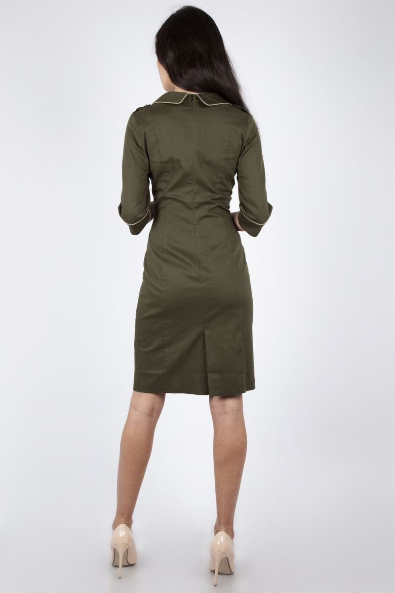 Army Style Pencil Dress