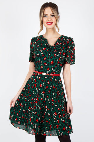 Tabby Mustard Polka Dot Tea Dress