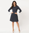 Button Down Tencel Denim Midi Shirt Dress in Dark Blue