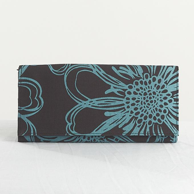 Anna Silkscreened Cotton Wallets in Various Colors