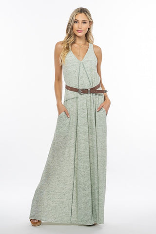Solid Modal Jersey High Neck Maxi Dress Available in 3 Colors