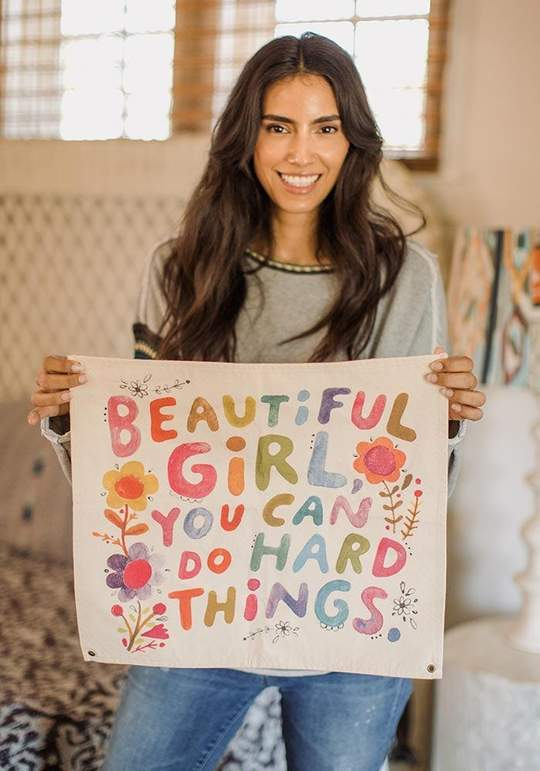 Beautiful Girl Canvas Wall Hanging