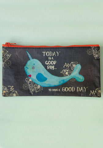 "Recycled Zip Pouch ""Let's Be Mermaids!"