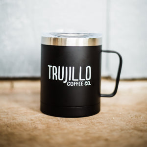 10oz Matte Black Mug with Lid