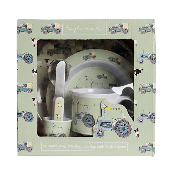 Children's Melamine Dinner Set - On the Farm