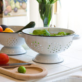 Enamelware Colanders - set of 2