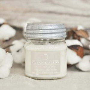 Clean Cotton 8 oz. Mason Jar Candle