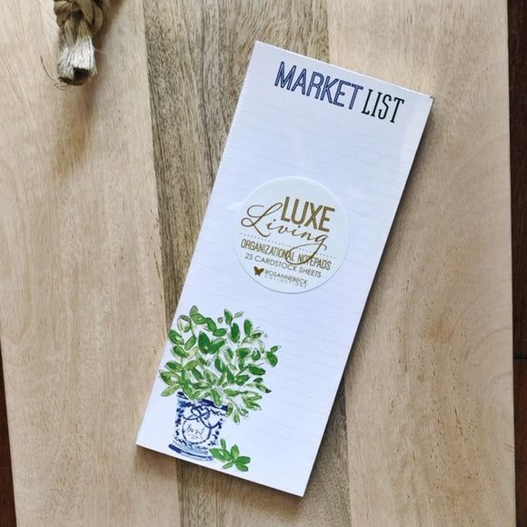 Herb + Wildflower Market List Pad