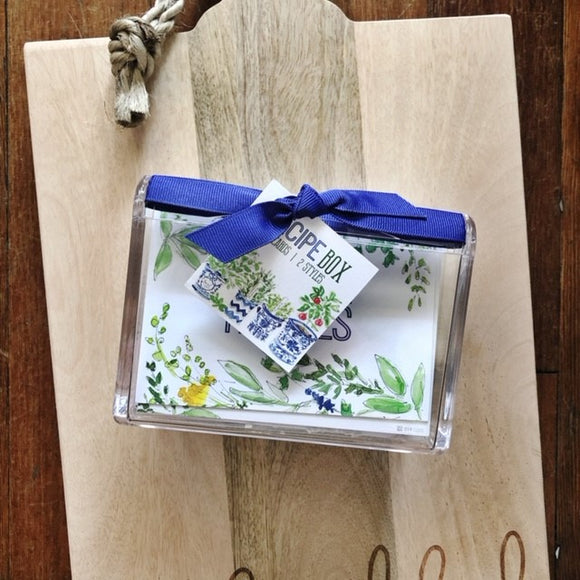 Herbs + Wildflowers Recipe Box