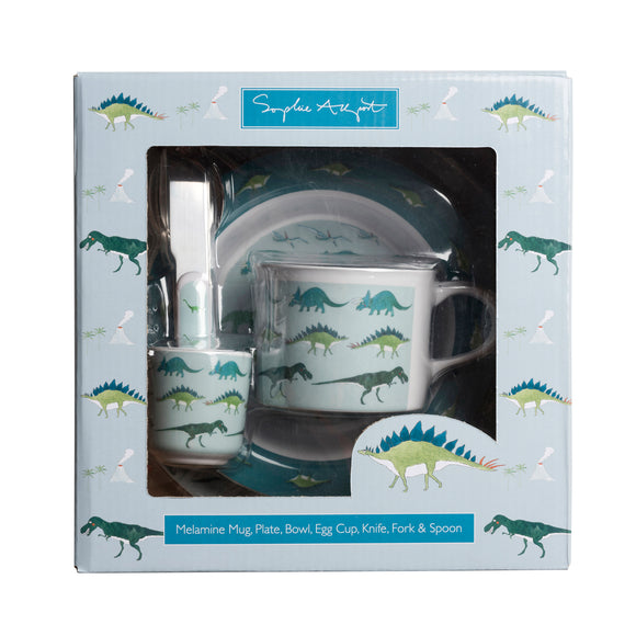Children's Melamine Dinner Set - Dinosaurs