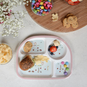 Children's Melamine Divided Plate - Woodland Party