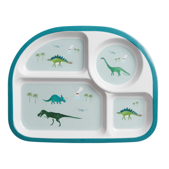 Children's Melamine Divided Plate - Dinosaurs
