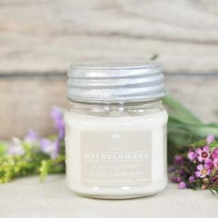 Wildflowers 8 oz. Mason Jar Candle